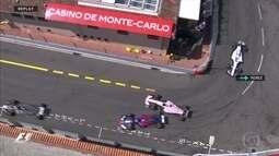 Perez toca em Kvyat e tira piloto do GP de Mônaco