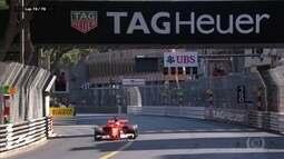 Vettel cruza a linha de chegada e vence em Mônaco
