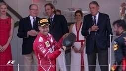 A festa é toda de Vettel no pódio em Mônaco