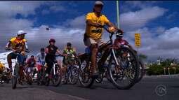 Passeio Ciclístico reúne várias pessoas em Petrolina