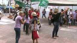 Protesto contra medidas de reforma trabalhista é realizado no Centro de Maceió