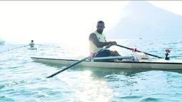 Campeão sul-americano de remo paralímpico, Michel Pessanha conta o dia a dia dos treinos