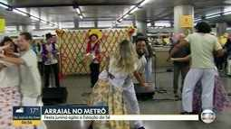 Festa junina agita a Estação da Sé nesta sexta-feira (23)
