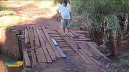 Ponte de madeira preocupa moradores de Ibiporã