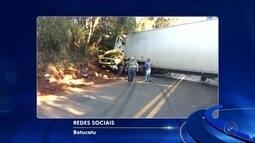 Uma pessoa morre em acidente entre caminhões na rodovia João Melão