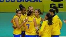 Melhores momentos de Brasil 3 x 0 Polônia pelo amistoso feminino de vôlei