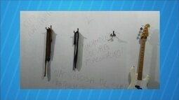 """Bandidos furtam escola de música e deixam recado na parede: 'breve voltarei"""""""