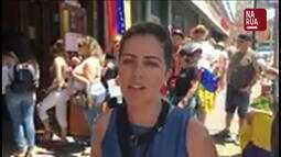 Colaboradora envia imagens de plebiscito venezuelanos em Nova Jersey, nos EUA