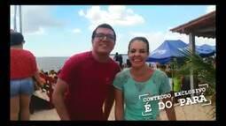 Confira os bastidores do programa EDP na praia do Caripi