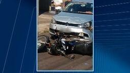 Acidentes com motociclistas são registrados em Presidente Prudente