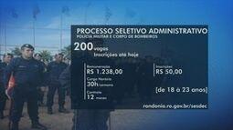 Processo seletivo da PM e Bombeiros oferece 200 vagas em RO