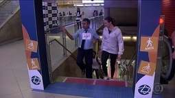 Metrô de SP convida: que tal trocar a escada rolante pela comum?