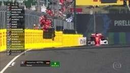 Sebastian Vettel vence GP da Hungria e Bottas recupera posição de Hamilton na chegada