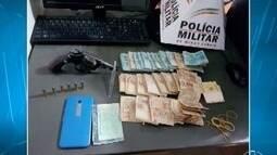 Três homens são detidos com mais de R$ 20 mil, arma e chave mixa em Montes Claros