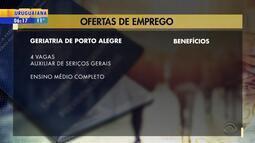 Empregos: geriatria de Porto Alegre tem vagas abertas