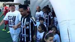 Vozão TV - Pais Alvinegros entraram em campo com os jogadores na véspera do Dia dos Pais