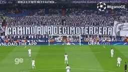 Pela primeira vez atrás do gol, Organizada do Real Madrid faz a festa em jogo da Liga