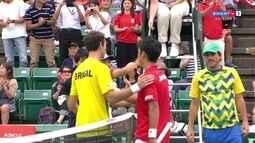 Pontos finais de Yuichi Sugita 3 x 0 Guilherme Clezar pela Copa Davis