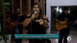 Ana Costa é uma das atrações deste sábado (16) em Petrolina
