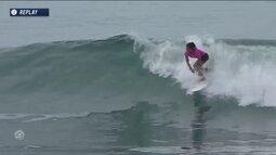 Filipe Toledo e Silvana Lima fazem dobradinha brasileira em etapa do Mundial de surfe