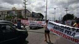 Estudantes protestam contra instalação do IML em prédio de enfermagem em Caxias