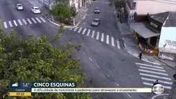 Falta de semáforos em cruzamento da Zona Norte dificulta travessia de pedestres