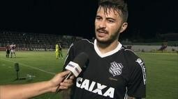 """João Lucas, sobre gols tomados pelo Figueirense: """"Desatenção que não pode acontecer"""""""