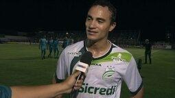 """Alfredo, sobre gol pelo Luverdense: """"Dedico à minha esposa. Está nessa luta diária comigo"""""""