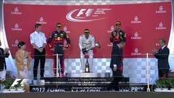 Confira a cerimônia do pódio do GP do Japão de Fórmula 1