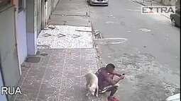 Cachorro faz xixi nas costas de rapaz e é adotado por ele no Rio