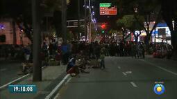 JPB2JP: MST faz protesto e interdita principal avenida de João Pessoa