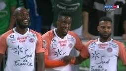 O gol de Saint-Étienne 0 x 1 Montpellier pela 10ª rodada do Campeonato Francês