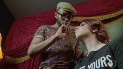 Maquiador Felipe Moreira transforma jovem em uma verdadeira dama dos anos 20