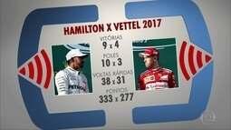 Vettel e Hamilton estarão frente a frente como tetracampeões em Interlagos