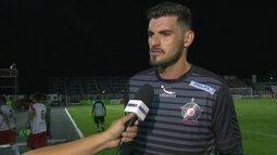 Fabrício, goleiro do Boa Esporte, exalta vitória diante da Luverdense