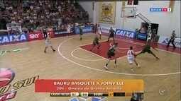 Na volta de Demétrius, Bauru tenta a recuperação no NBB contra Joinville