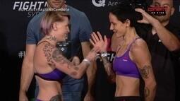 Jessica-Rose Clark e Bec Rawlings passam pela pesagem do UFC Austrália