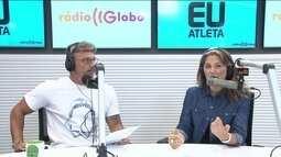Eu Atleta: Juliano Ceglia e Carla Gomes falam sobre gravação de programa na rádio Globo