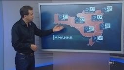 Veja como ficará o tempo em todas as regiões de SC nesta sexta-feira (24)