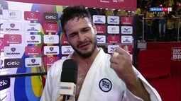 Leandro Guilheiro se emociona com vitória na seletiva nacional de judô