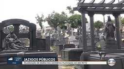 Titulares de jazigos em cemitérios públicos devem se regularizar na Prefeitura de BH