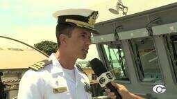 Navio Patrulha Araguari está aberto para visitação no Porto de Maceió
