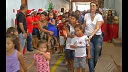 Grupo de voluntários da cremação se reuniu para distribuir solidariedade no Natal