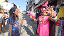 Maria Menezes arrisca dar uns passinhos de zouk, no 'Mapas Urbanos'