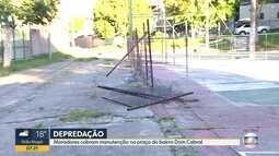 Telespectador denuncia praça em estado precário no bairro Dom Cabral, em Belo Horizonte