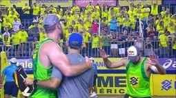 Pontos finais: Alison/Bruno 2 x 0 Evandro/André pela final do Brasileiro em Fortaleza