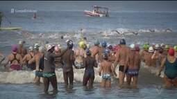 Travessia em homenagem ao aniversário de Santos reúne 300 nadadores