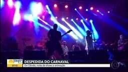 Olinda se despediu do carnaval com show de Nação Zumbi em Rio Doce