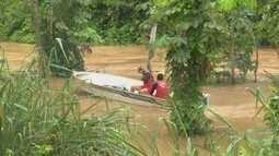 Jovem desaparece ao tomar banho em igarapé que transbordou após temporal em Rio Branco