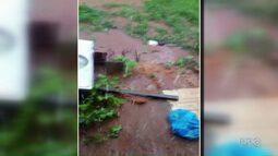 Chuva deixa desabrigados em São Miguel do Iguaçu